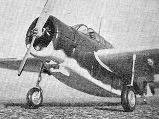 Kyushu Shiragiku (oz10018) by Mike Hawkins from Model Aircraft 1963
