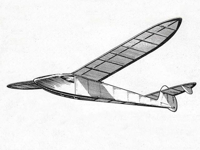 Glevum Glider - completed model photo