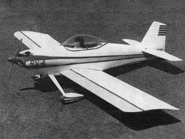Vans RV-4 (oz10157) by Hal DeBolt from Model Airplane News 1983