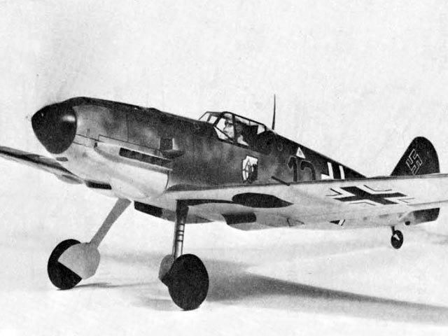 bf109E (oz1020) by Doug McHard from Flying Scale Models of WWII 1974
