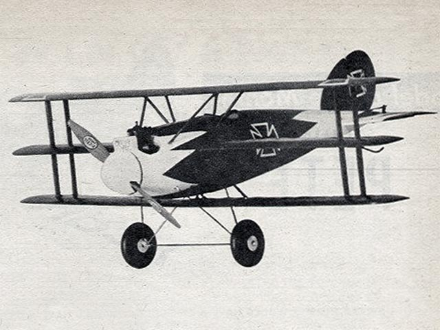 Albatros Triplane (oz1026) by Walt Musciano from Air Trails 1949