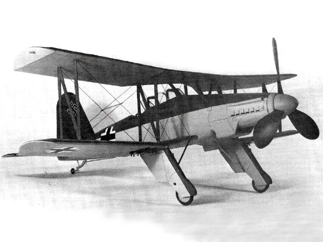 Fieseler Fi-167 - completed model photo