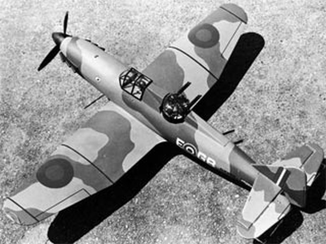 Boulton Paul Defiant (oz10307) by Chuck Felton from Model Airplane News 1973