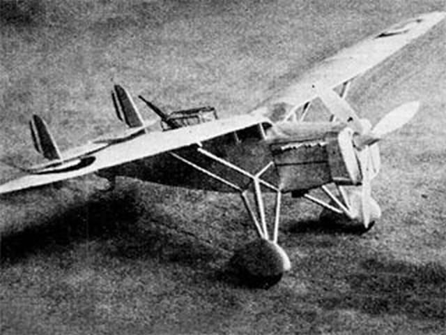 Mureaux 180-C2 Pursuit - completed model photo