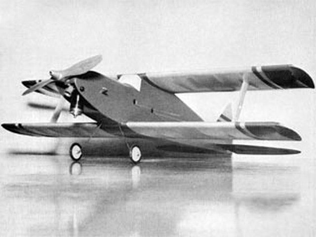 Two for the Show (oz10337) by James A Wilson from American Aircraft Modeler 1972