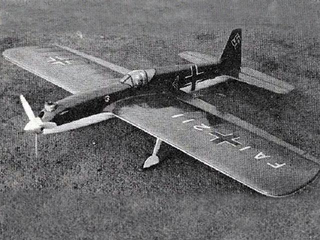 Heinkel Stunter - completed model photo
