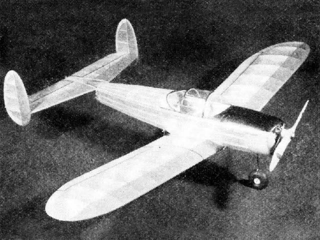 Ercoupe (oz1045) by Sydney Struhl from Model Airplane News 1943
