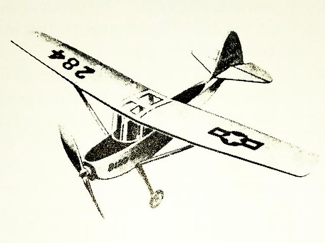 Cessna Bird Dog - completed model photo
