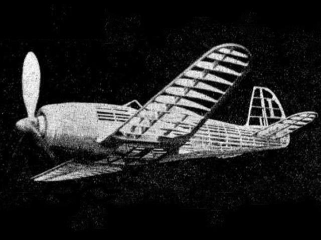Focke Wulf 190 (oz10552) by KH Hodgson from Aeromodeller 1943
