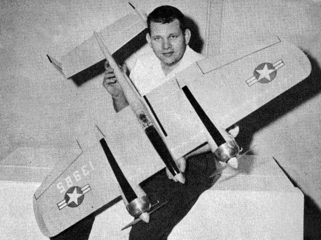 F5F-1 Skyrocket (oz10584) by Jack Sheeks from Flying Models 1964