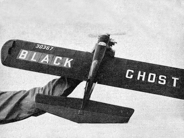 Black Ghost (oz10585) by M Grimmetr from Model Aircraft 1958