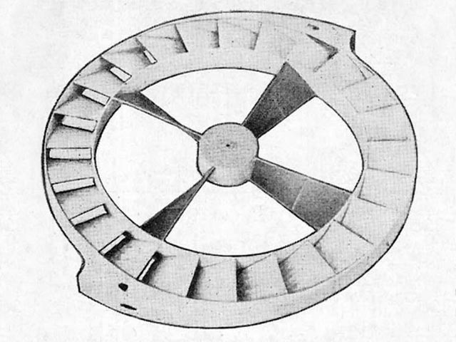 Flying Wheel (oz10594) by Paul Del Gatto from Model Aircraft 1954