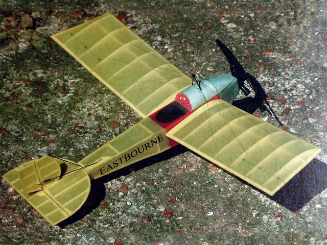 Eastbourne Monoplane - completed model photo