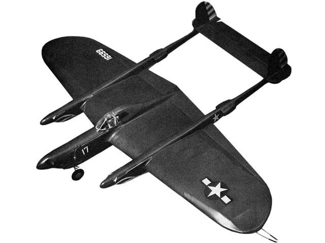 P-38 Stunt - completed model photo