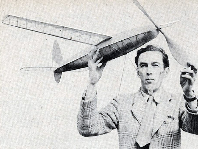 1954 Wakefield (oz10696) by Ron Warring from Model Airplane News 1953