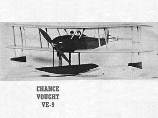 Chance Vought VE-9 - completed model photo