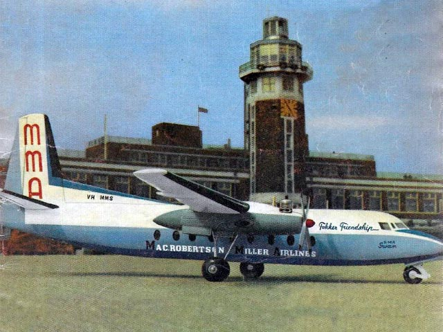 Fokker Friendship (oz10732) by JM Bodey from Aeromodeller 1964
