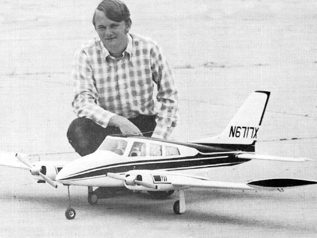 Cessna 310 (oz10762) by Daniel Gray from Model Airplane News 1974