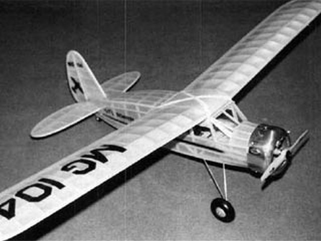 Dennyplane Junior (oz1077) by Dan Lutz from Model Builder 1990