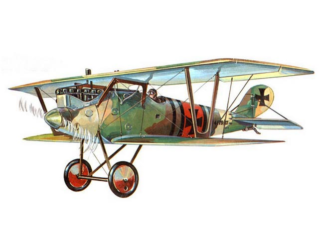 Pfalz D.3 Scout - completed model photo