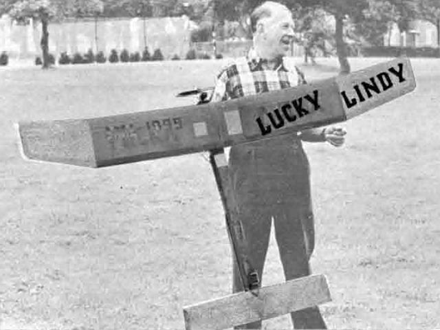 Lucky Lindy (oz10910) by Larry Conover from American Modeler 1957