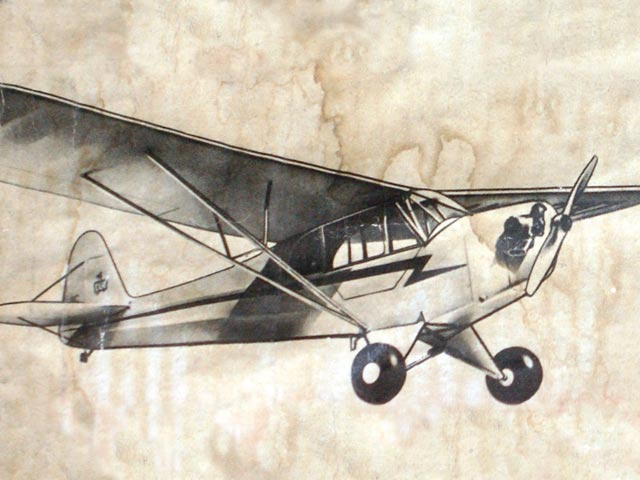 Piper Cub J-3 - completed model photo