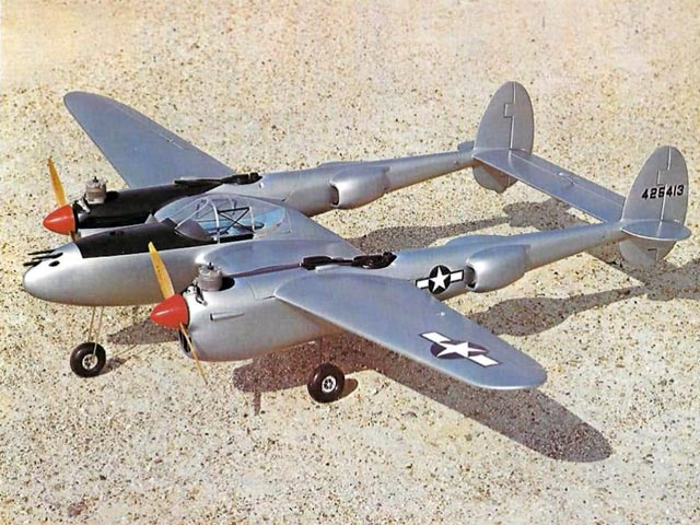 Lockheed P-38 Lightning (oz1095) from Royal Marutaka 1976