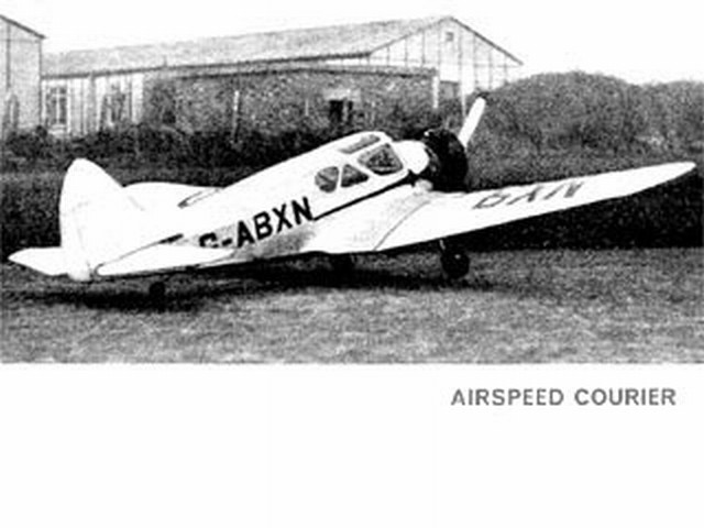 Airspeed Courier (oz1100) by Dennis Rattle from Model Aircraft 1966