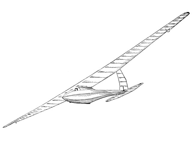 Bowlus Sailplane (oz11037) by Jesse Davidson from Model Airplane News 1931