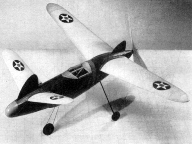 Future Fighter (oz11126) by Charles Grant, Frank Ehling from Model Airplane News 1942