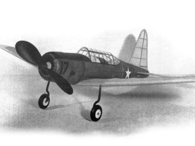 Vultee BT-13 Valiant (oz11157) by Sidney Struhl from Model Airplane News 1943