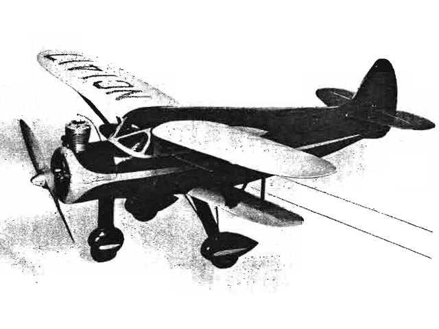 Waco N (oz11205) by Walt Schroder from Eagle Model Aircraft 1946