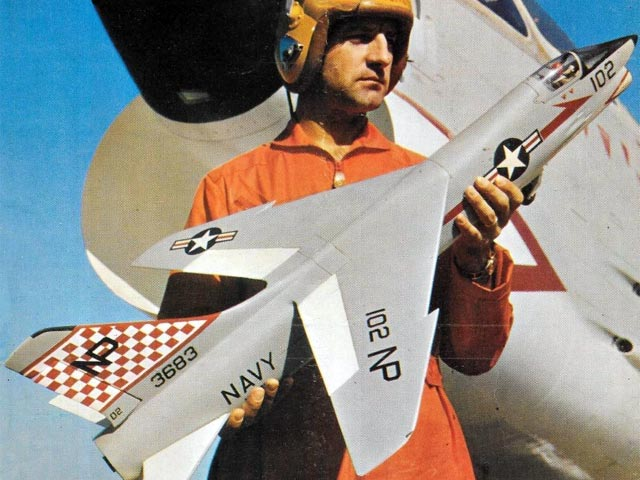 Chance Vought Crusader (oz11236) by ER Atkins from Model Airplane News 1960