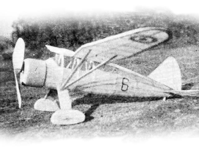 Westland Lysander (oz11249) by Robert Harrison from Model Airplane News 1937
