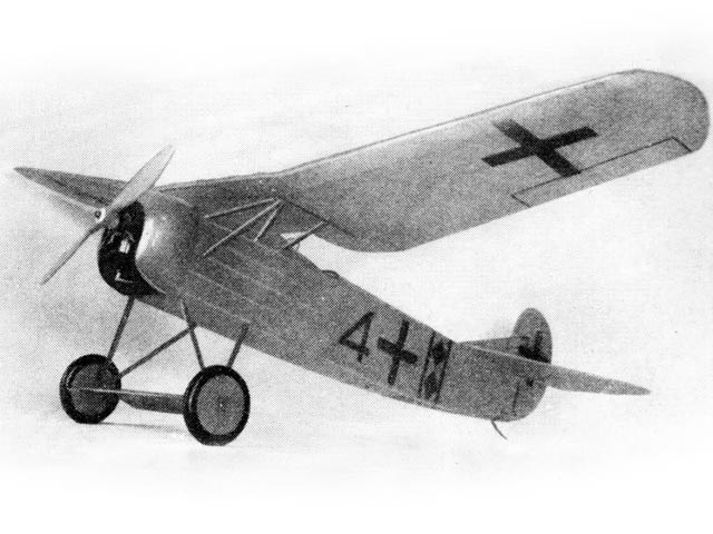 Fokker D8 (oz1132) by Earl Stahl from Model Airplane News 1941