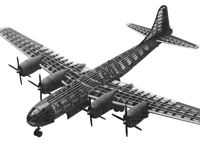 Boeing B-29 Superfortress  (oz11396) from Guillows 1993