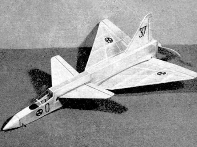 Saab Viggen (oz11488) by Ray Malmstrom from Meccano Magazine 1967