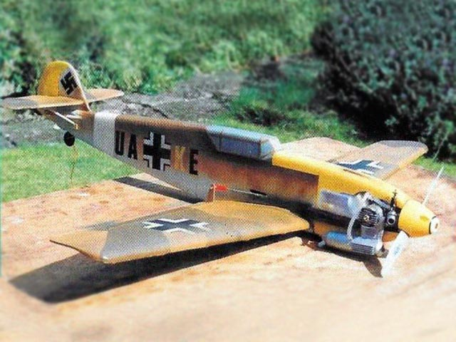 Projed Messerschmitt Bf109E (oz11491) by David Boddington from Aviation Modeller International 1996
