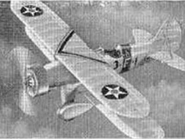 Boeing XF6B-1 - completed model photo