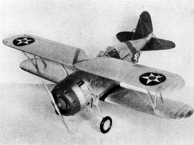 Grumman F3F-1 (oz11527) by Paul Lindberg from Practical Aviation 1937