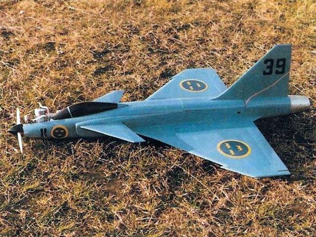 Saab Gripen (oz11535) by John Rutter from Radio Modeller 1987
