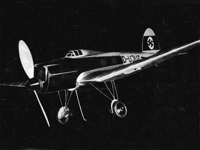 Heinkel He 70 (oz11618) by HFA Schelhasse from CJE Volckmann 1937