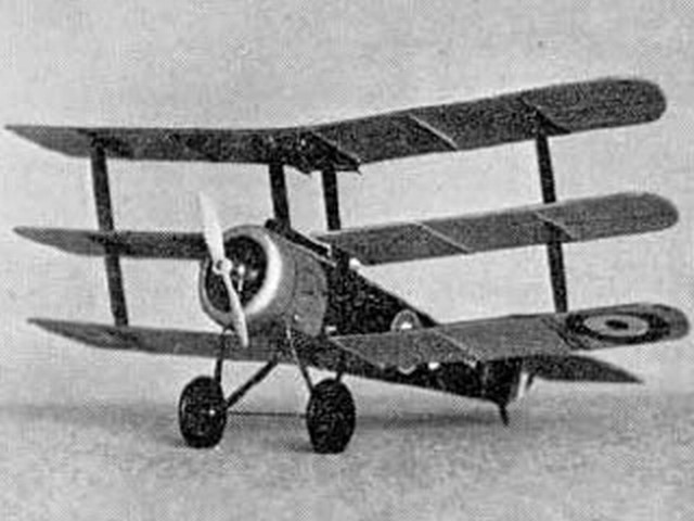 Sopwith Triplane (oz1164) by Gordon Whitehead from Aeromodeller 1977