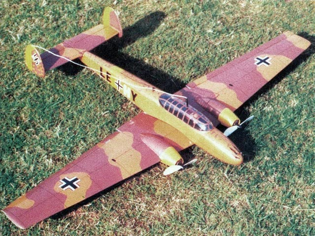 Messerschmitt Me110 (oz11644) by Paul Janssens from RC Model World 1998