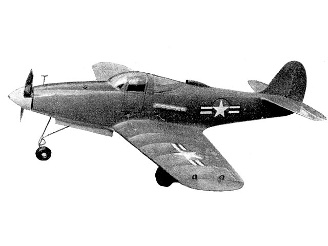 Airacobra (oz11672) by B Reggiano from Model Aircraft 1957