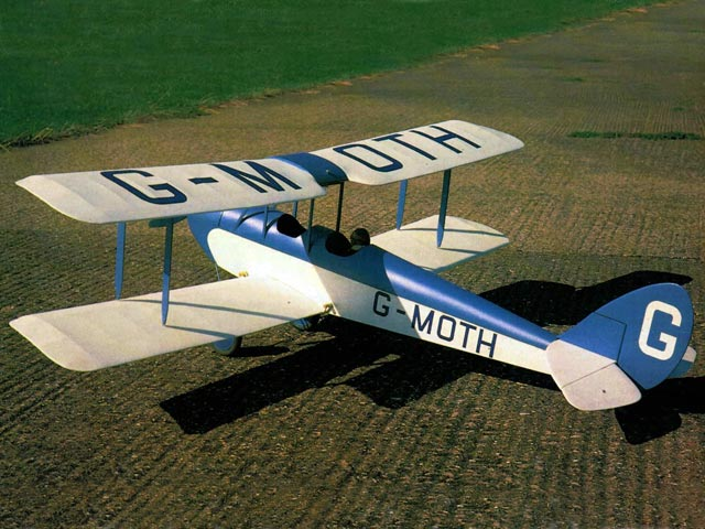 DH 60 Cirrus Moth (oz11723) by David Boddington from RCME 1985