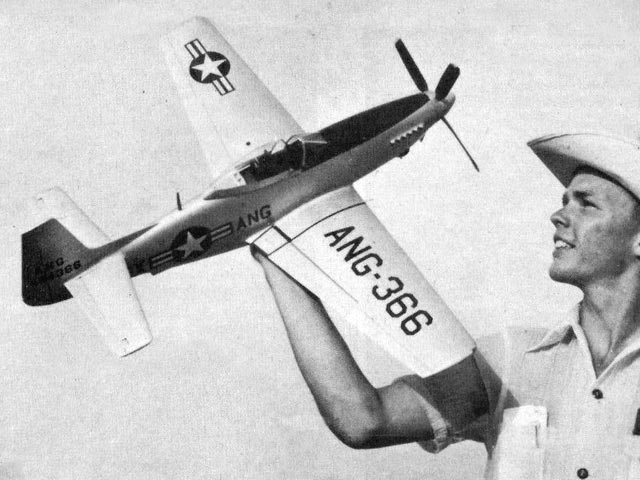 F-51H Mustang (oz11724) by Jim McCroskey from Model Airplane News 1955