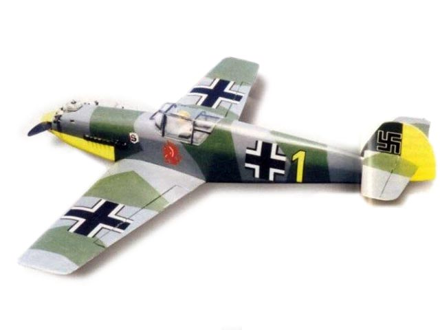Messerschmitt Me109E (oz11752) by David Boddington from Model Flyer 2001