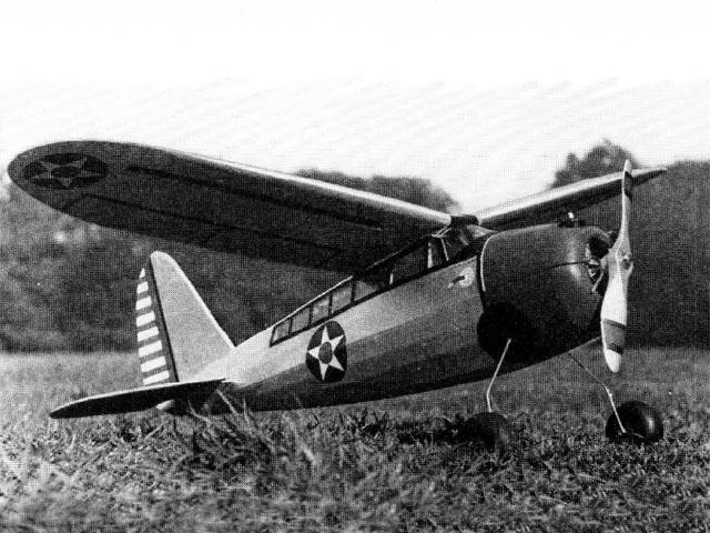 Curtiss O-52 Owl (oz11776) by Sydney Struhl from Model Airplane News 1942