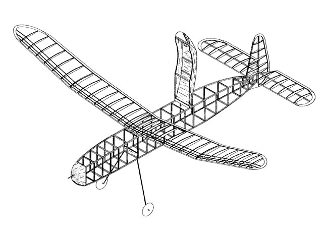 Wakefield Defender (oz11811) by Chester Lanzo from Model Aircraft Plan Book 1947